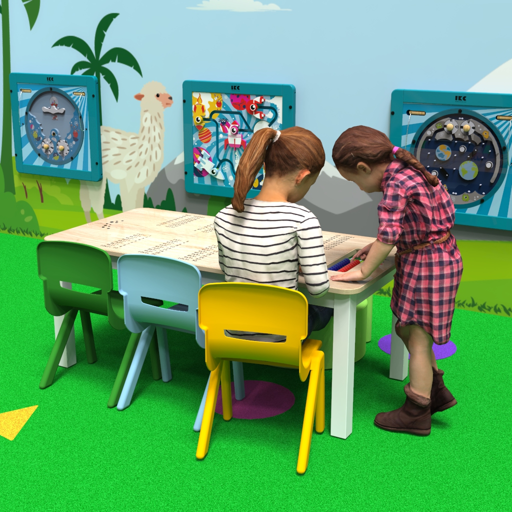 This image shows a play system table
