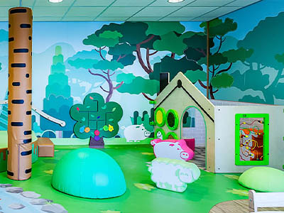 this image shows a kids corner with kids furniture in childcare