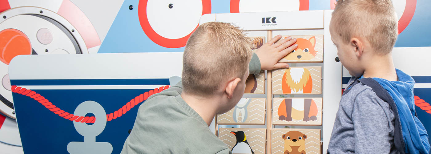 this image shows a kids corner of the arctic collection with wall game