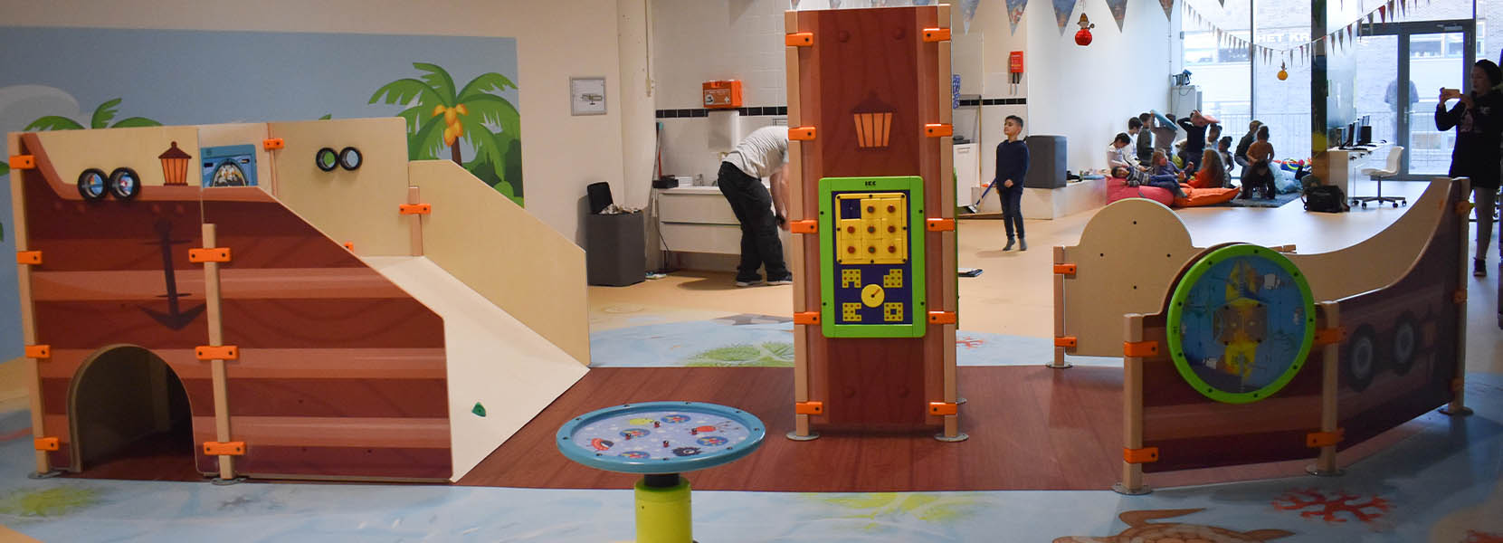 On this image you can see the play corner Ship ahoy in a daycare centre