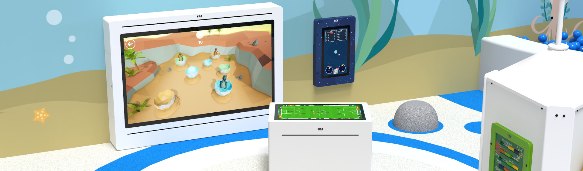 On this image you can see a kids' corner with IKC software
