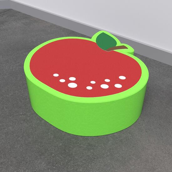 Op deze afbeelding staat een softplay Apple