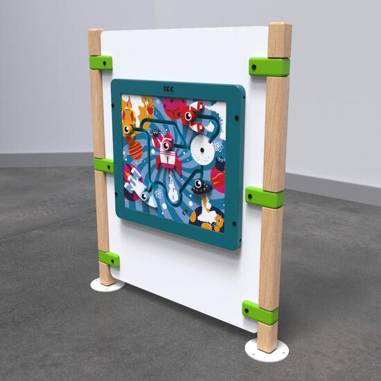 Op deze afbeelding staat speelhek Monster playpanel