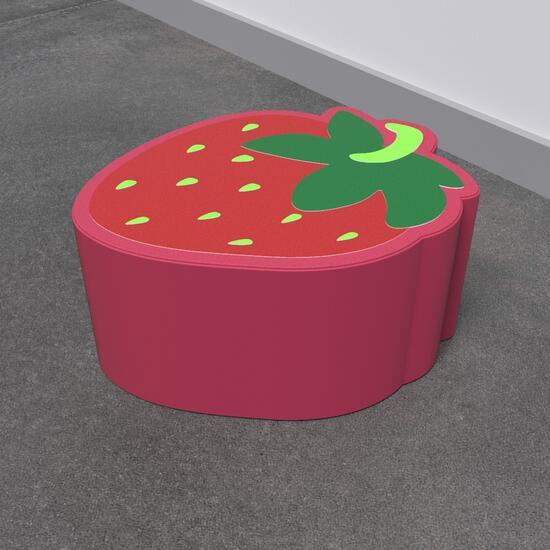 Op deze afbeelding staat een softplay Strawberry