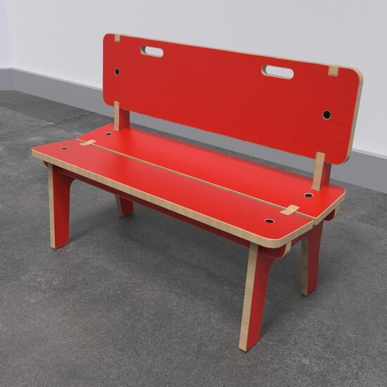 Op deze afbeelding ziet u de Buxus Bench high uit de kindermeubel collectie Buxus