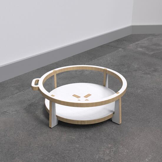 Op deze afbeelding ziet u de Buxus Softplay stool white uit de kindermeubel collectie Buxus