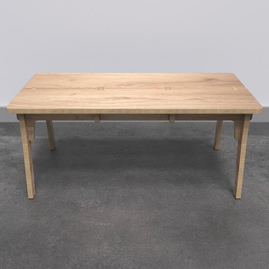 Op deze afbeelding ziet u de Buxus Table wood uit de kindermeubel collectie Buxus