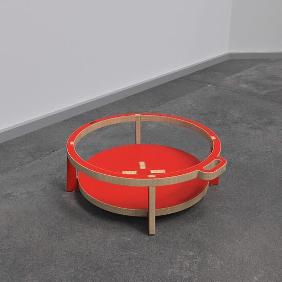 Op deze afbeelding ziet u kindermeubel softplaykruk rood