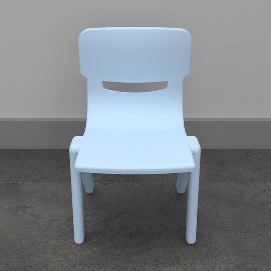 Op deze afbeelding ziet u Kinderstoel Fun chair blue