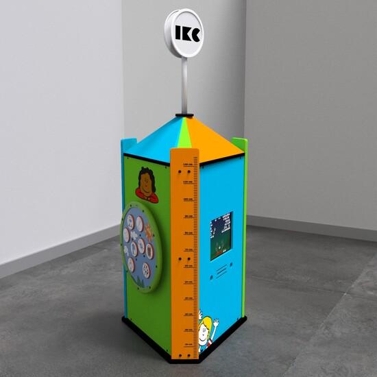 Op deze afbeelding ziet u een interactief speelsysteem Play tower touch