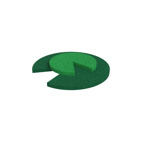 Diverse speelvloer elementen waterlelie  EPDM vloer