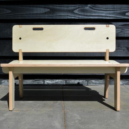 design zitbank voor kinderen voor in een speelruimte of wachtkamer uit onze nieuwe buxus lijn