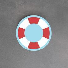 Op deze afbeelding staat een softplay Life buoy