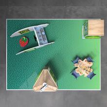Op deze afbeelding staat een speelhoek Classic L 12 m²