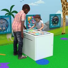 Op deze afbeelding staat een interactief speelsysteem Delta 32 inch touchtable