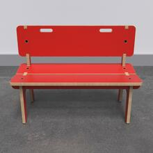 Buxus Bench high red
