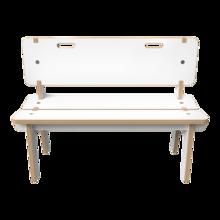 Wit houten bankje voor kinderen | IKC kindermeubels