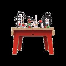 Rode houten kralentafel voor kinderen   IKC Kindermeubels