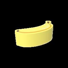 De Softplay Banana is een handgemaakt zacht zitmeubel voor uw kinderhoek